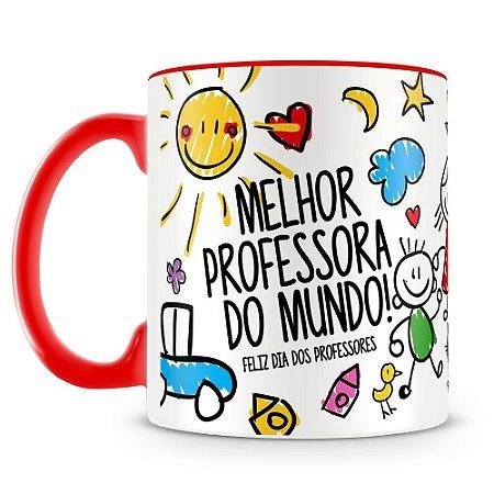 Caneca Personalizada Melhor Professora do Mundo