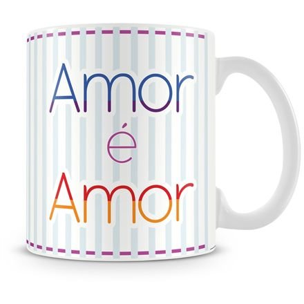 Caneca Personalizada Porcelana Amor é Amor (Masculino)