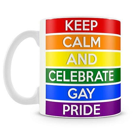 Caneca Personalizada Keep Calm And Celebrate