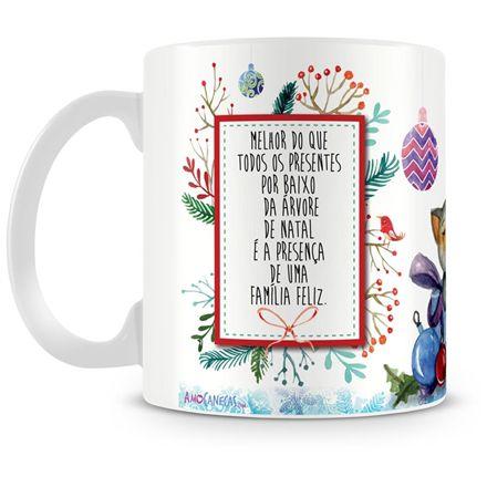 Caneca Personalizada Porcelana Feliz Natal (Mod.2)