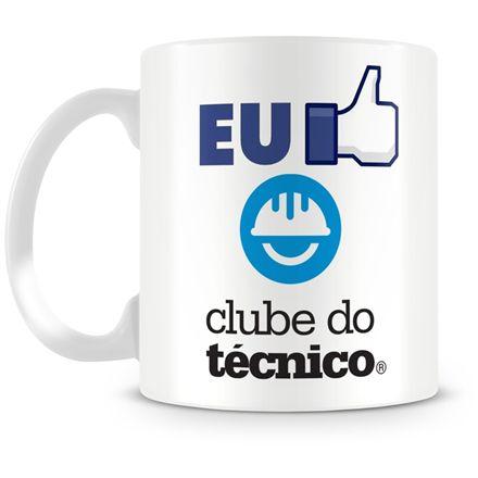 Caneca Personalizada Porcelana Clube do Técnico (Mod.2)
