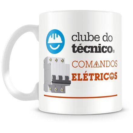 Caneca Personalizada Clube do Técnico Comandos Elétricos