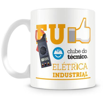 Caneca Personalizada Clube do Técnico Elétrica Industrial