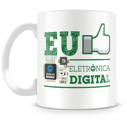 Caneca Personalizada Clube do Técnico Eletrônica Digital