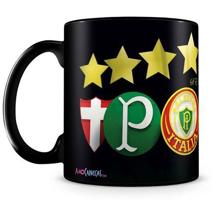 Caneca Personalizada Porcelana Palmeiras Futebol Clube (100% Preta)