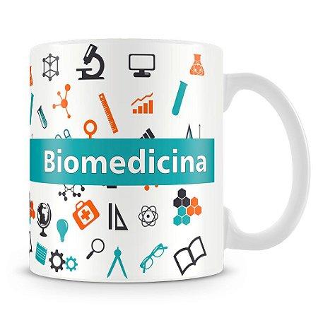 Caneca Personalizada Profissão Biomedicina - Mod.2 (Com Nome)