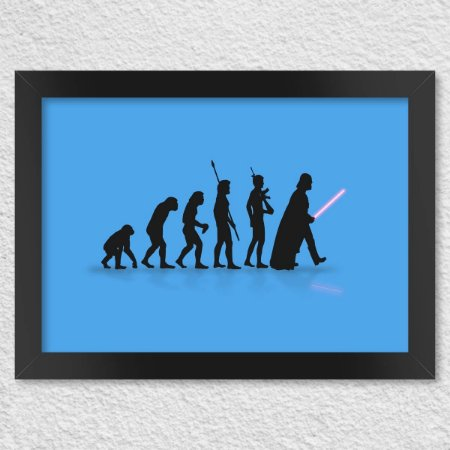 Poster Evolução Geek (Azul)
