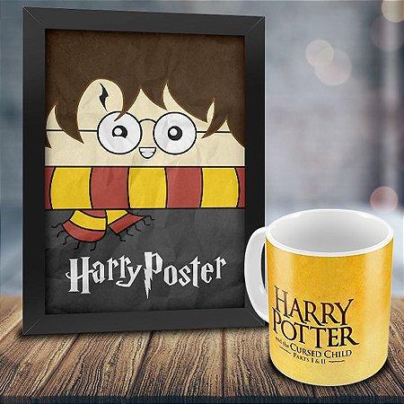 Caneca Personalizada Harry Potter e a Criança Amaldiçoada + Quadro Harry Poster