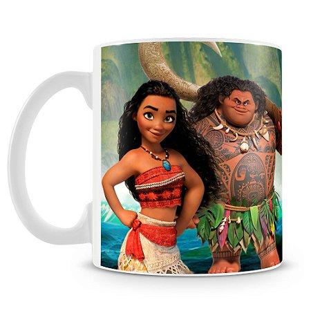 Caneca Personalizada Moana e Maui