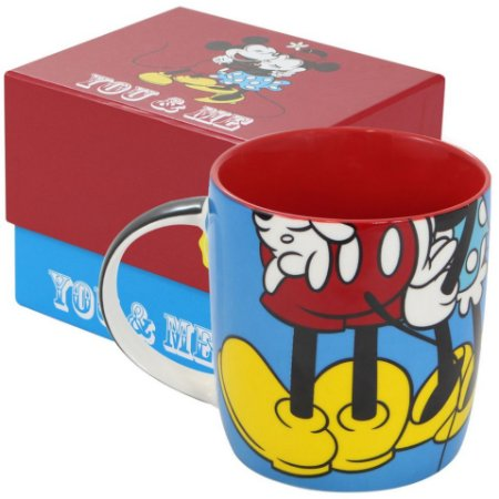 Caneca de Porcelana Mickey e Minnie