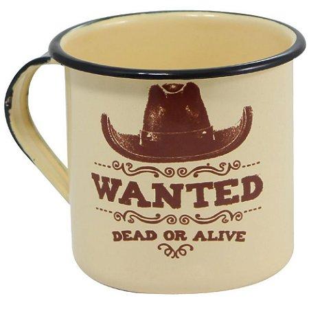 Caneca Retrô Wanted Dead Or Alive