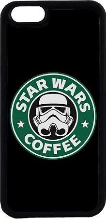 Capinha para Celular iPhone 6 Star Wars Coffee