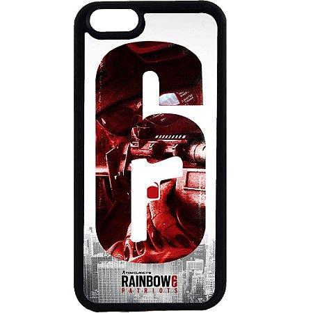 Capinha para Celular iPhone 6 Rainbow Six Gun