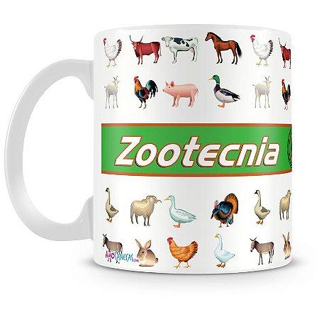 Caneca Personalizada Porcelana Profissão Zootecnica
