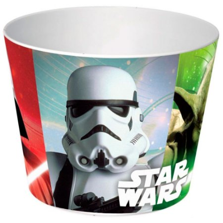Balde de Pipoca Star Wars Personagens