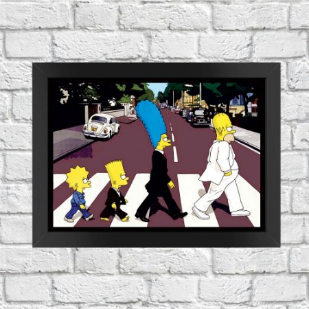 Poster Os Simpsons Abbey Road