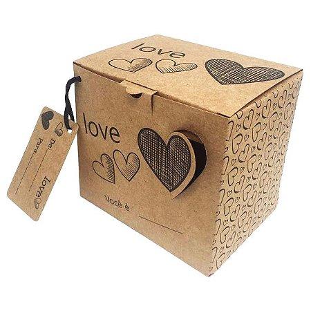 Caixinha de Presente para Caneca (Love)