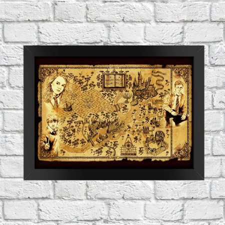 Poster Harry Potter Mapa de Hogwarts
