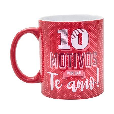 Caneca Personalizada 10 Motivos Porque Te Amo