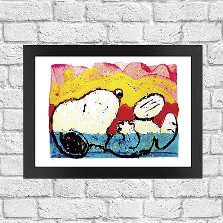 Poster Aquarela Snoopy