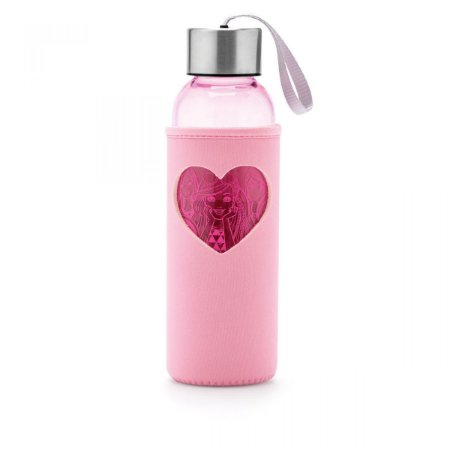 Garrafa com Capinha Barbie Love Rosa