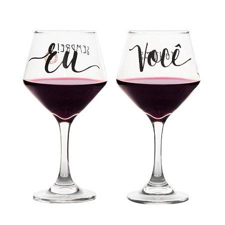 Conjunto de Taças de Vinho Eu & Você