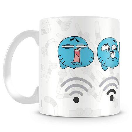 Caneca Personalizada do Incrível Mundo de Gumball (Wi-fi)