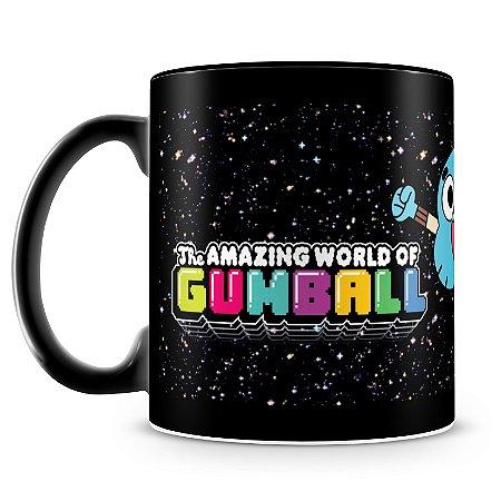 Caneca Personalizada do Incrível Mundo de Gumball (100% Preta)