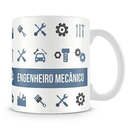Caneca Personalizada Porcelana Profissão Engenheiro Mecânico