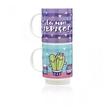 Canecas Empilháveis Cactus