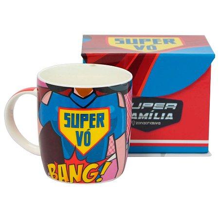 Caneca Personalizada Porcelana Super Vó
