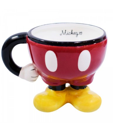 Caneca de Porcelana Corpo Mickey