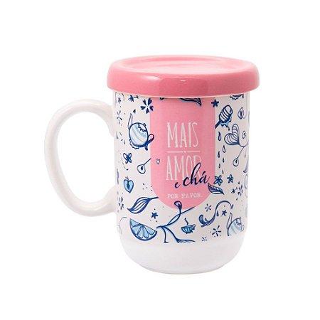 Caneca de Porcelana com Infusor Mais Chá