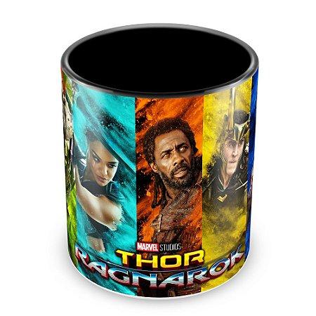 Caneca Personalizada Porcelana Thor Ragnarok - Mod.3 (Preta)