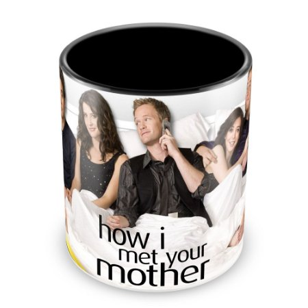 Caneca Personalizada Porcelana How i Met Your Mother - Mod.1 (Preta)