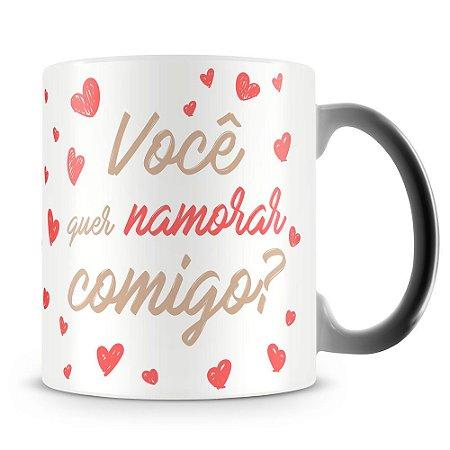 Caneca Mágica Personalizada Quer Namorar Comigo (Com Foto)
