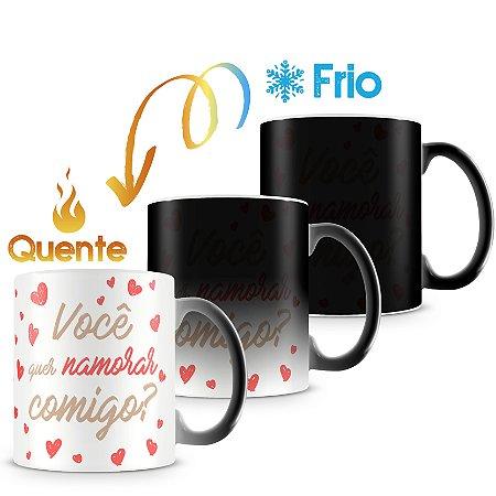 Caneca Mágica Personalizada Quer Namorar Comigo (1 Foto)
