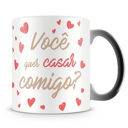 Caneca Mágica Personalizada Quer Casar Comigo (1 Foto)