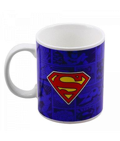 Caneca de Porcelana Super Homem - Liga da Justiça