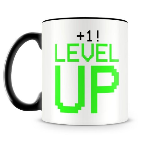 Caneca Personalizada Level UP!
