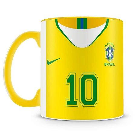Caneca Personalizada Time Brasil (Com Nome)