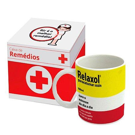 Caneca de Porcelana Remédio Relaxol