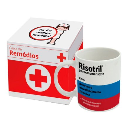 Caneca de Porcelana Remédio Risotril