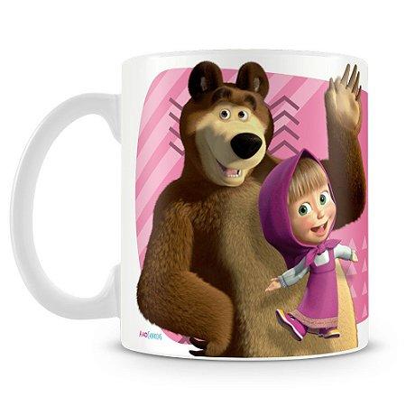 Caneca Plástica Personalizada Masha e o Urso
