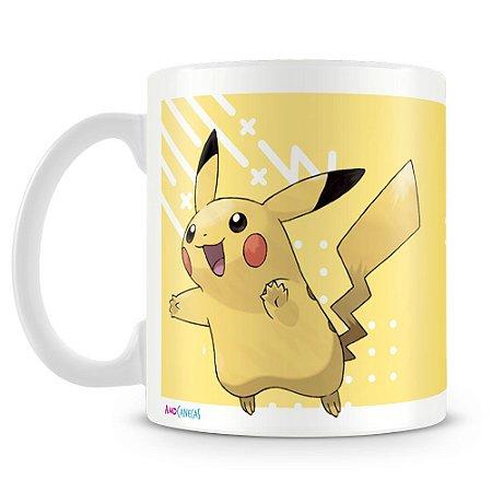 Caneca Plástica Personalizada Pokémon Pikachu