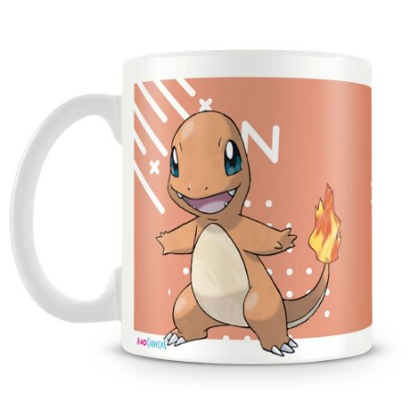 Caneca Plástica Personalizada Pokémon Charmander