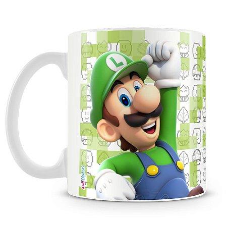 Caneca Plástica Personalizada Luigi