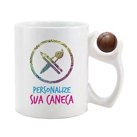 Caneca Alça Bola Personalizada do seu Jeito (Basquete)