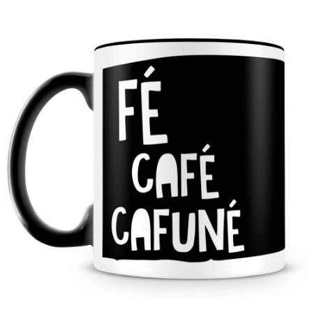 Caneca Personalizada Fé Café Cafuné