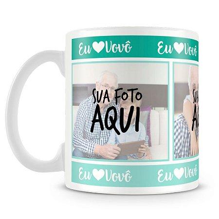 Caneca Personalizada Eu Amo Vovô (Com Foto)